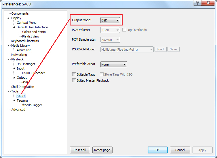 FAQs - How to set foobar2000 to play Native DSD